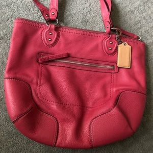 Pink Coach leather bag